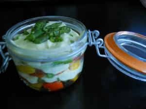 Verrine de légumes grillés
