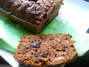 cake cacao - pomme - courgette