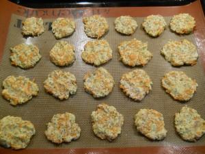 Biscuits apéritifs avant cuisson
