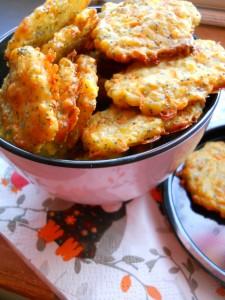 Biscuits apéritifs parmesan carottes graines de pavot