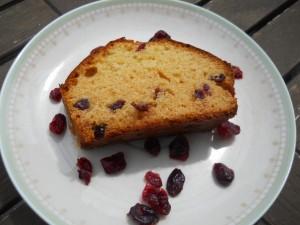 Cake chocolat blanc et cranberries
